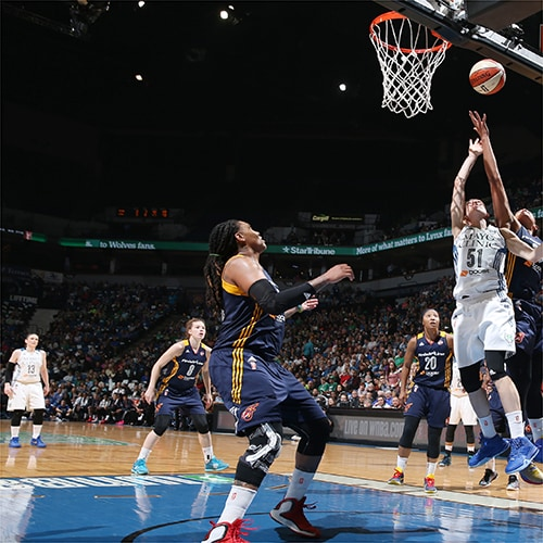 MINNEAPOLIS, MN - OCTOBER 6:  Anna Cruz #51 of the Minnesota Lynx shoots the ball against the Indiana Fever during Game Two of the 2015 WNBA Finals on October 6, 2015 at Target Center in Minneapolis, Minnesota.  NOTE TO USER: User expressly acknowledges and agrees that, by downloading and or using this Photograph, user is consenting to the terms and conditions of the Getty Images License Agreement. Mandatory Copyright Notice: Copyright 2015 NBAE (Photo by David Sherman/NBAE via Getty Images)