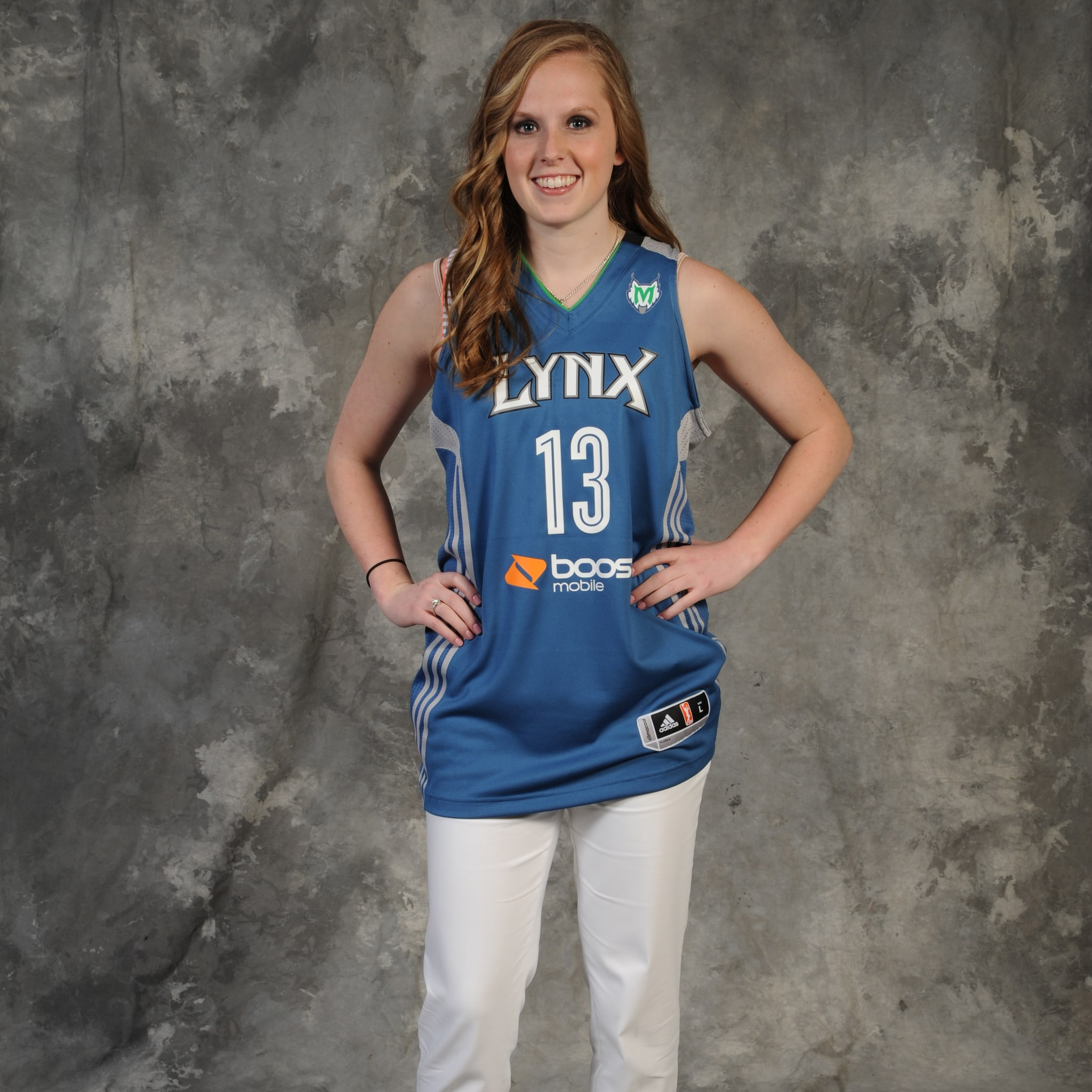 BRISTOL, CT - APRIL 15:  The number twelve overall pick Lindsey Moore of the Minnesota Lynx poses for a portrait during the 2013 WNBA Draft Presented By State Farm on April 15, 2013 at ESPN in Bristol, Connecticut.  NOTE TO USER: User expressly acknowledges and agrees that, by downloading and/or using this Photograph, user is consenting to the terms and conditions of the Getty Images License Agreement. Mandatory Copyright Notice: Copyright 2013 NBAE  (Photo by Jennifer Pottheiser/NBAE via Getty Images)