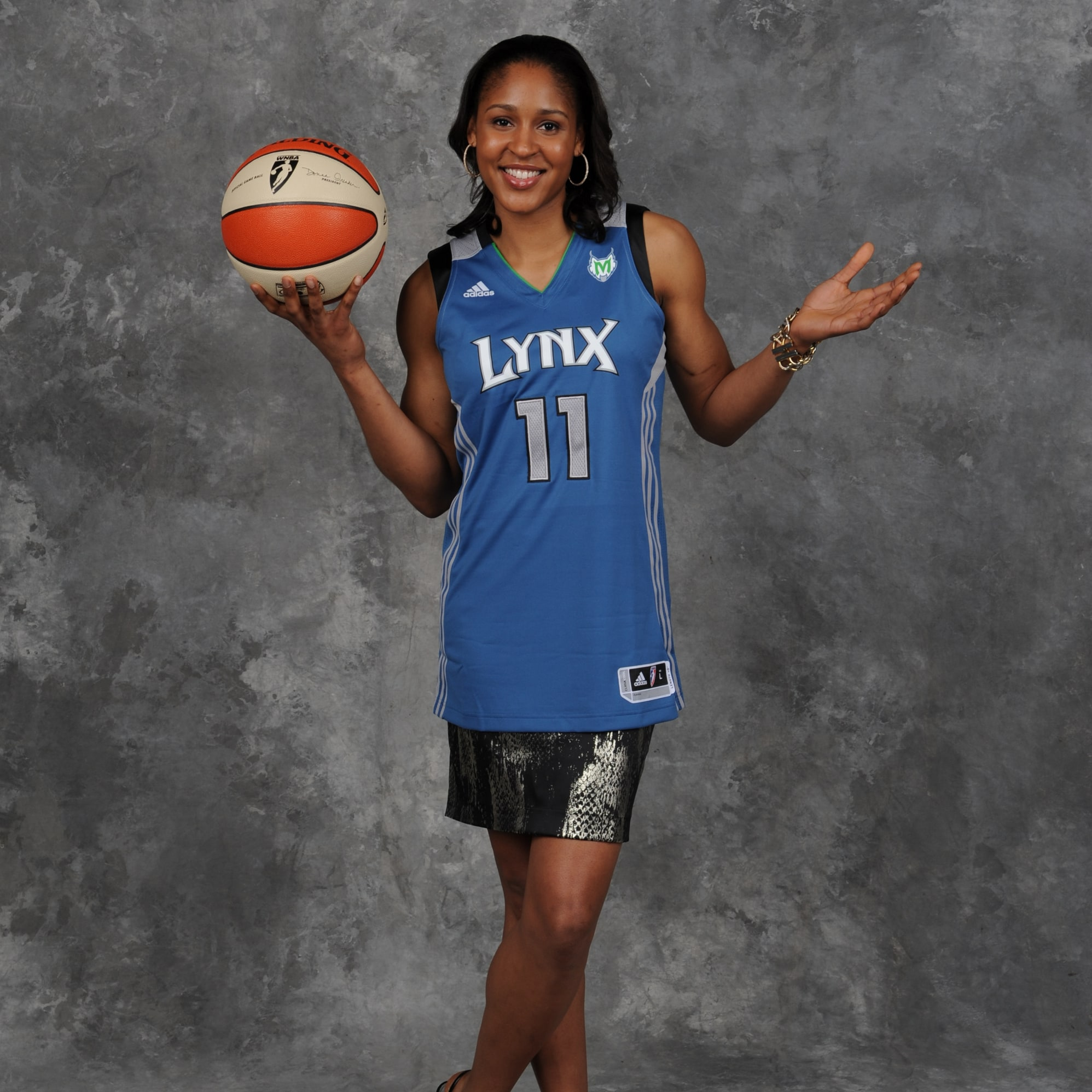 BRISTOL, CT - APRIL 11:  The number one overall pick Maya Moore  of the Minnesota Lynx poses for a portrait during the 2011 WNBA Draft Presented By Adidas on April 11, 2011 at ESPN in Bristol, Connecticut.  NOTE TO USER: User expressly acknowledges and agrees that, by downloading and/or using this Photograph, user is consenting to the terms and conditions of the Getty Images License Agreement. Mandatory Copyright Notice: Copyright 2011 NBAE  (Photo byJennifer Pottheiser/NBAE/Getty Images) *** Local Caption *** Maya Moore