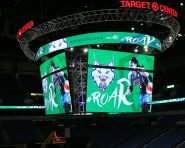 MINNEAPOLIS, MN - AUGUST 26:  The Minnesota Timberwolves and Minnesota Lynx unveil the new Target Center scoreboard for media on August 26, 2016 at Target Center in Minneapolis, Minnesota.  NOTE TO USER: User expressly acknowledges and agrees that, by downloading and or using this Photograph, user is consenting to the terms and conditions of the Getty Images License Agreement. Mandatory Copyright Notice: Copyright 2016 NBAE (Photo by David Sherman/NBAE via Getty Images)