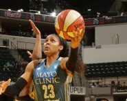 INDIANAPOLIS, IN - SEPTEMBER 16:  Maya Moore #23 of the Minnesota Lynx goes to the basket against the Indiana Fever on September 16, 2016 at Bankers Life Fieldhouse in Indianapolis, Indiana. NOTE TO USER: User expressly acknowledges and agrees that, by downloading and or using this Photograph, user is consenting to the terms and conditions of the Getty Images License Agreement. Mandatory Copyright Notice: Copyright 2016 NBAE (Photo by Ron Hoskins/NBAE via Getty Images)
