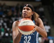 ST. PAUL, MN - SEPTEMBER 30:  Rebekkah Brunson #32 of the Minnesota Lynx shoots a free throw against the Phoenix Mercury in Game Two of the Semifinals during the 2016 WNBA Playoffs on September 30, 2016 at Xcel Energy Center in St. Paul, Minnesota.  NOTE TO USER: User expressly acknowledges and agrees that, by downloading and or using this Photograph, user is consenting to the terms and conditions of the Getty Images License Agreement. Mandatory Copyright Notice: Copyright 2016 NBAE (Photo by David Sherman/NBAE via Getty Images)