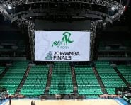 MINNEAPOLIS, MN - OCTOBER 20:  The arena is seen before the game between the Los Angeles Sparks and the Minnesota Lynx in Game 5 of the 2016 WNBA Finals on October 20, 2016 at Target Center in Minneapolis, Minnesota. NOTE TO USER: User expressly acknowledges and agrees that, by downloading and or using this Photograph, user is consenting to the terms and conditions of the Getty Images License Agreement. Mandatory Copyright Notice: Copyright 2016 NBAE (Photo by David Sherman/NBAE via Getty Images)