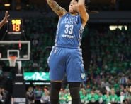 MINNEAPOLIS, MN - OCTOBER 20:  Seimone Augustus #33 of the Minnesota Lynx shoots the ball against the Los Angeles Sparks during Game Five of the 2016 WNBA Finals on October 20, 2016 at Target Center in Minneapolis, Minnesota. NOTE TO USER: User expressly acknowledges and agrees that, by downloading and or using this photograph, user is consenting to the terms and conditions of the Getty Images License Agreement. Mandatory Copyright Notice: Copyright 2016 NBAE (Photo by Jordan Johnson/NBAE via Getty Images)