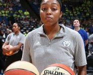 MINNEAPOLIS, MN - JULY 20:  Renee Montgomery #21 of the Minnesota Lynx warms up before the game against the Atlanta Dream on July 20, 2016 at Target Center in Minneapolis, Minnesota. NOTE TO USER: User expressly acknowledges and agrees that, by downloading and or using this Photograph, user is consenting to the terms and conditions of the Getty Images License Agreement. Mandatory Copyright Notice: Copyright 2016 NBAE (Photo by David Sherman/NBAE via Getty Images)