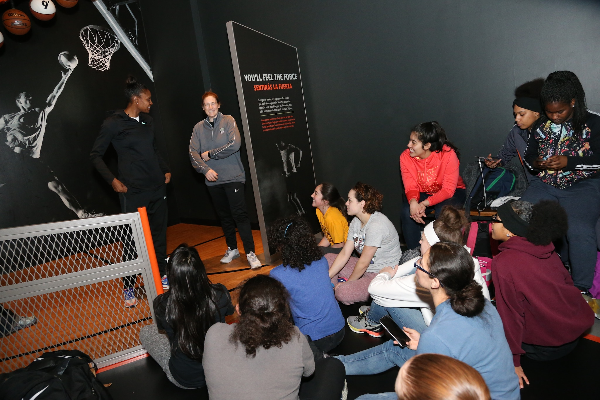 Minnesota Lynx visit Sportsology at the Science Museum of Minnesota