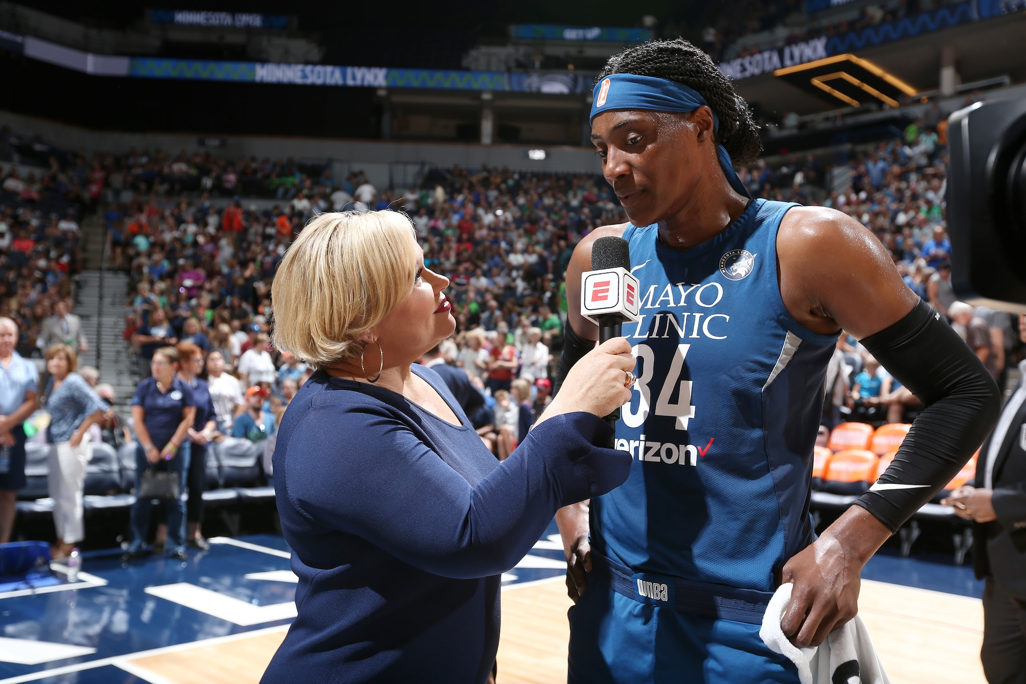Sylvia Fowles with Holly Rowe