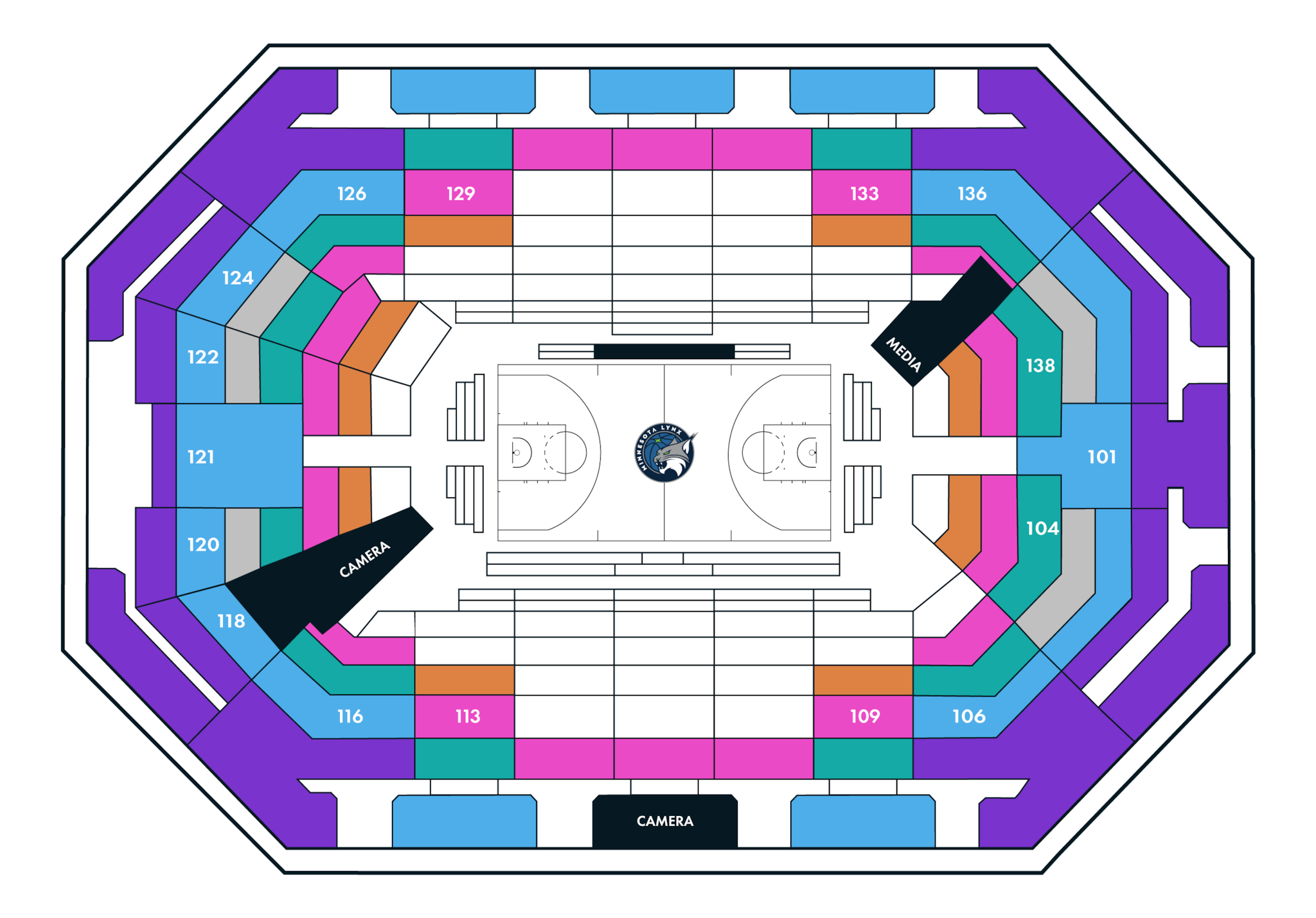 Pricing Map of Target Center
