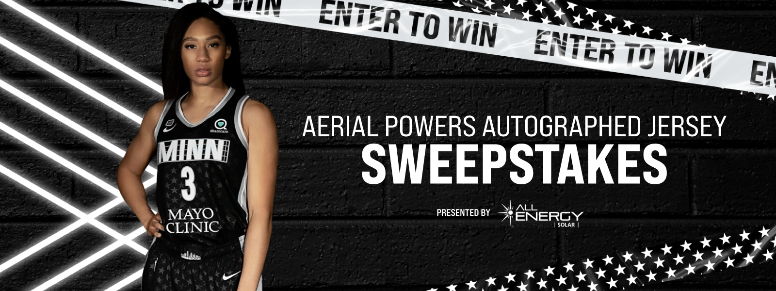 Lynx Autographed Rebel Jersey Sweepstakes presented by All Energy Solar