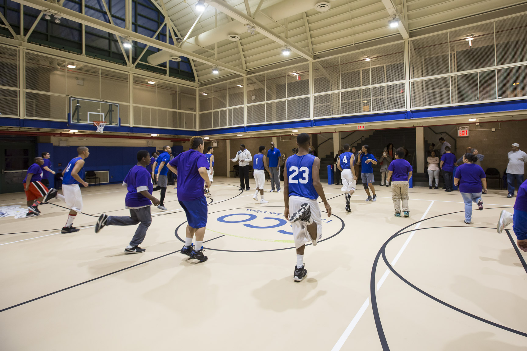 December 1, 2015: The Garden of Dreams Foundation unveils a completely refurbished gymnasium at the SCO Family of Services Ottilie Residential Treatment Facility in Briarwood, Queens. The completed project, provided through a grant of nearly $230,000, includes a new gymnasium floor and scoreboard; fresh paint throughout the entire facility; new vinyl tile flooring; additional lighting; new windows that provide natural light and upgraded heating and air conditioning systems.
