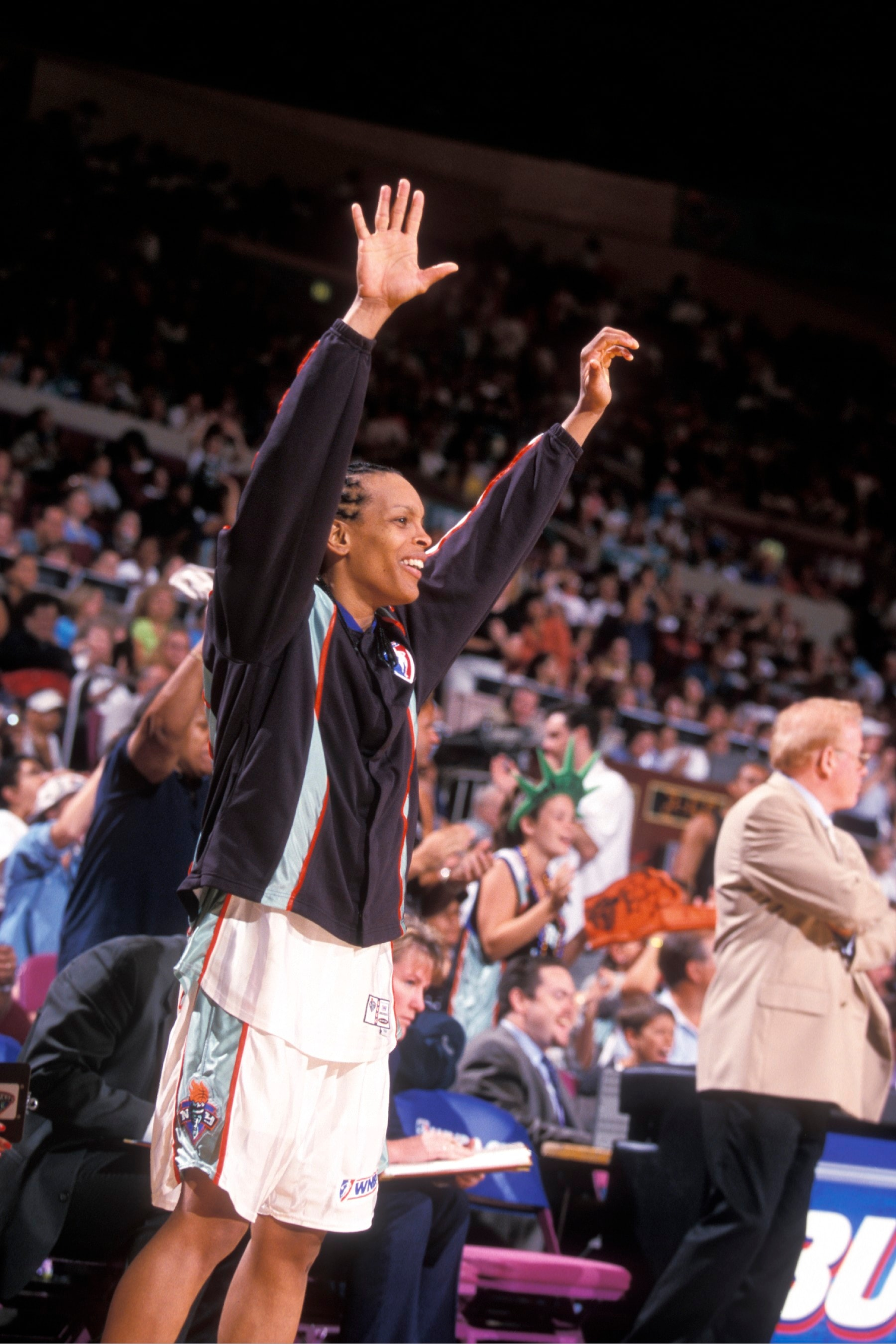 August 14, 2001; The New York Liberty defeat the Washington Mystic, 71-56.