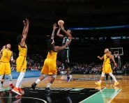 NEW YORK, NY - JULY 21:  Tina Charles #31 of the New York Liberty shoots the ball against the Indiana Fever on July 21, 2016 at Madison Square Garden in New York, New York. NOTE TO USER: User expressly acknowledges and agrees that, by downloading and or using this Photograph, user is consenting to the terms and conditions of the Getty Images License Agreement. Mandatory Copyright Notice: Copyright 2016 NBAE (Photo by Mike Stobe/NBAE via Getty Images)