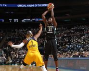 July 21, 2016: The New York Liberty vs the Indiana Fever at Madison Square Garden in New York City.