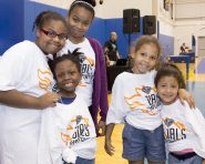 August 24, 2016: The New York Liberty pair up with Chase to host another female empowerment panel and basketball clinic with kids that are part of Garden of Dreams. The event took place at the MSG Training Center with a panel that hosted Kym Hampton, Rebecca Haarlow, Teresa Weatherspoon, Damaris Lewis and NY Senator Andrea Stewart Cousins.