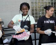 August 18, 2016: The Garden of Dreams Foundation and the New York Liberty host a barbeque with families from WHEDco in Bronx, NY.