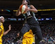 June 3, 2016: The New York Liberty defeat the Indiana Fever, 91-59, at Madison Square Garden in New York City.