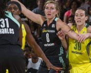 July 6, 2016: The New York Liberty defeat the Seattle Storm, 78-74, at Madison Square Garden in New York City.