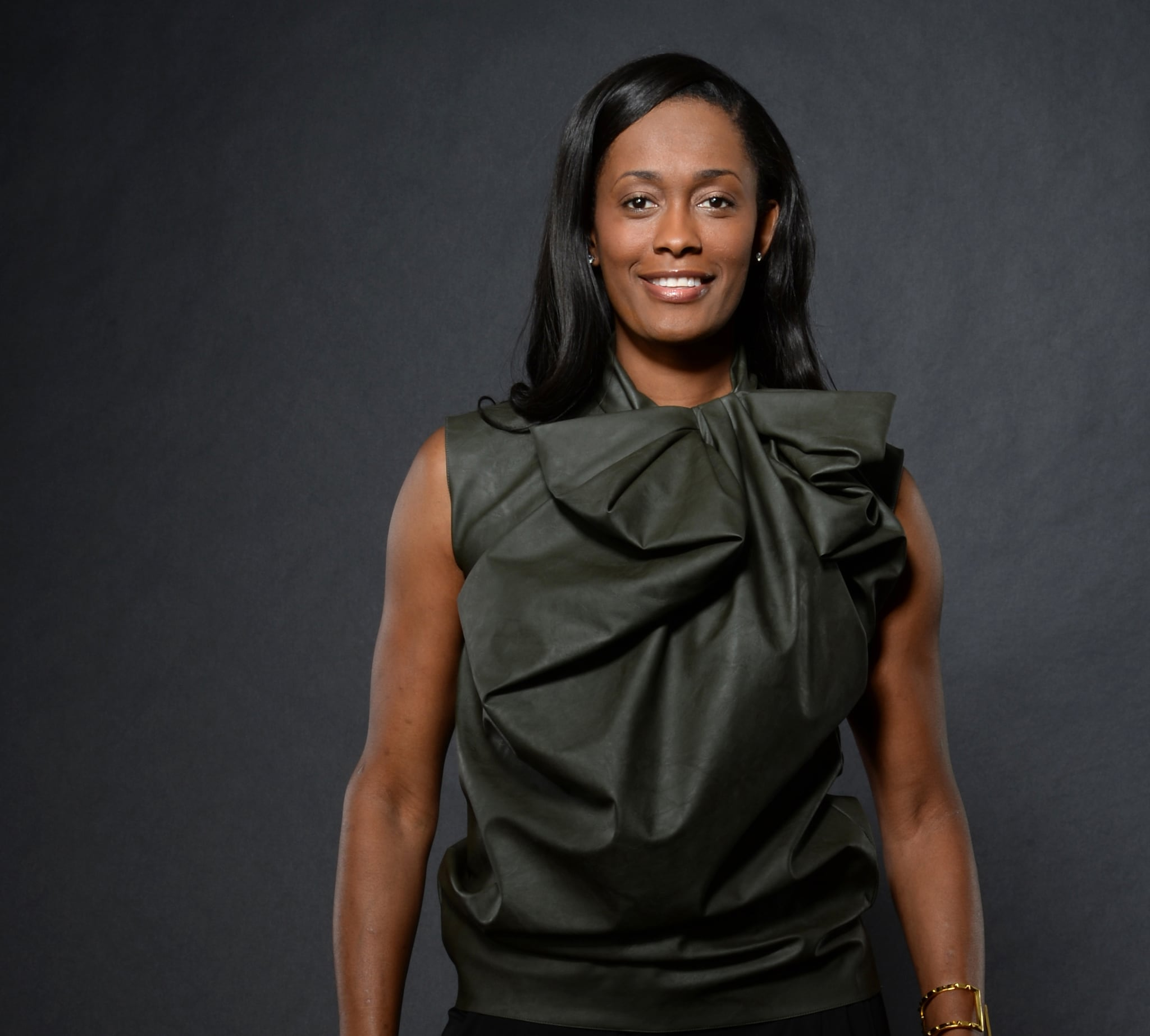 NEW YORK, NY - FEBRUARY 15:  Swin Cash #32 of the New York Liberty poses for portraits during the NBAE Circuit as part of 2015 All-Star Weekend at the Sheraton Times Square Hotel on February 15, 2015 in New York, New York. NOTE TO USER: User expressly acknowledges and agrees that, by downloading and/or using this photograph, user is consenting to the terms and conditions of the Getty Images License Agreement.  Mandatory Copyright Notice: Copyright 2015 NBAE (Photo by Jennifer Pottheiser/NBAE via Getty Images)