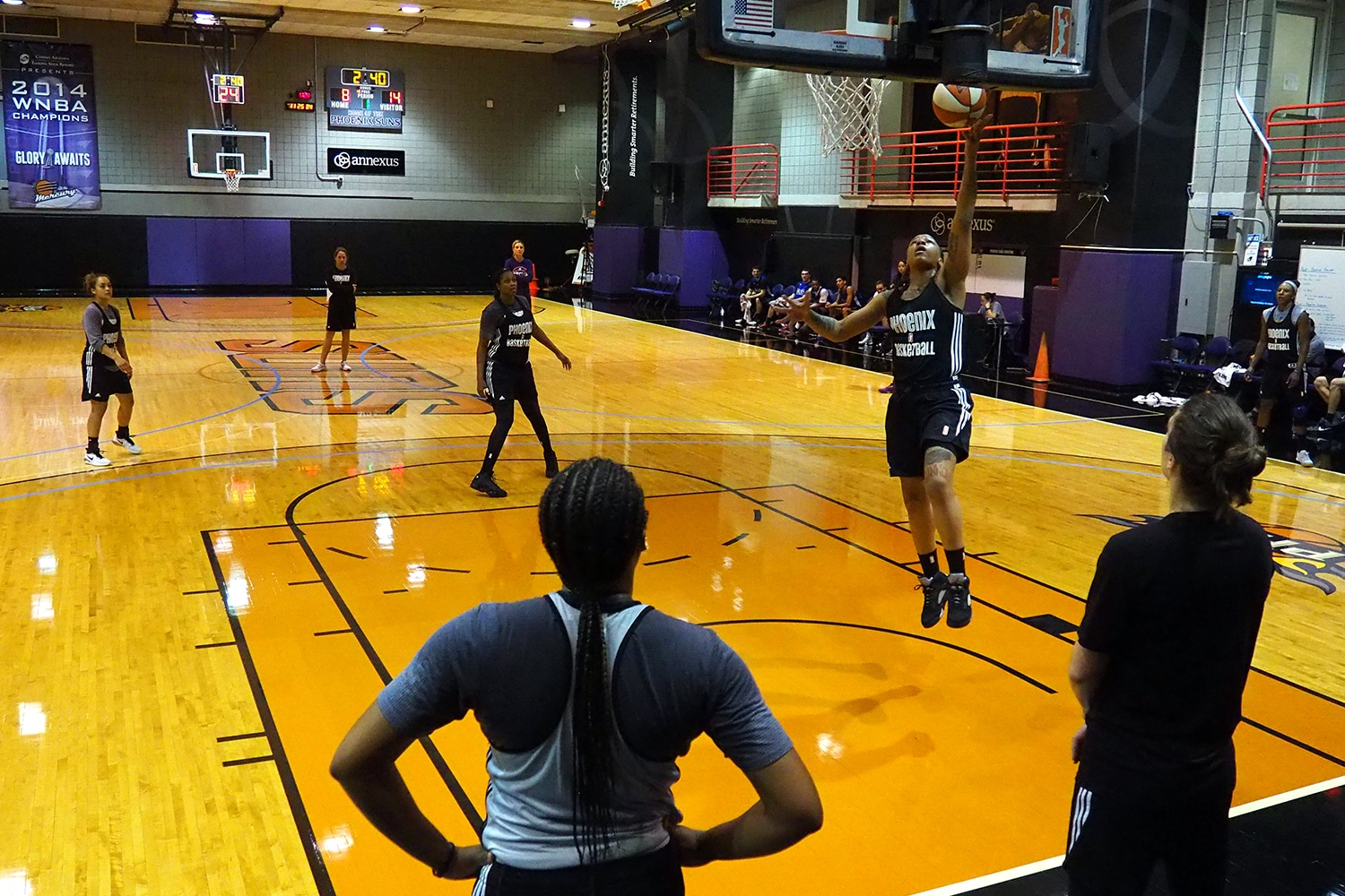 Day 5 of Phoenix Mercury Training Camp.