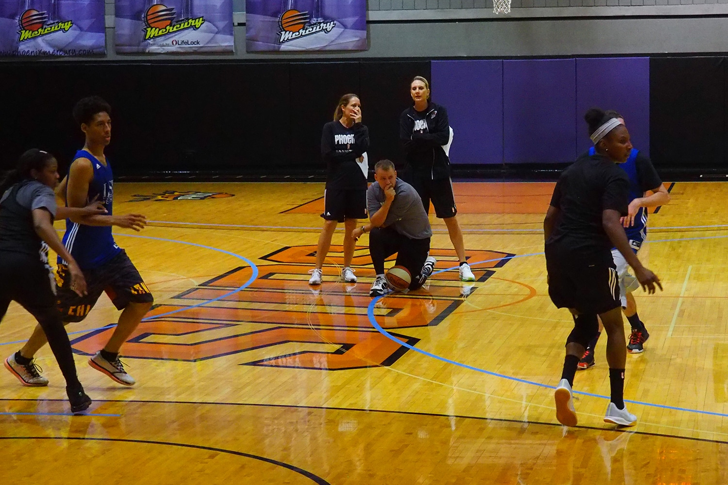 Phoenix Mercury Training Camp.