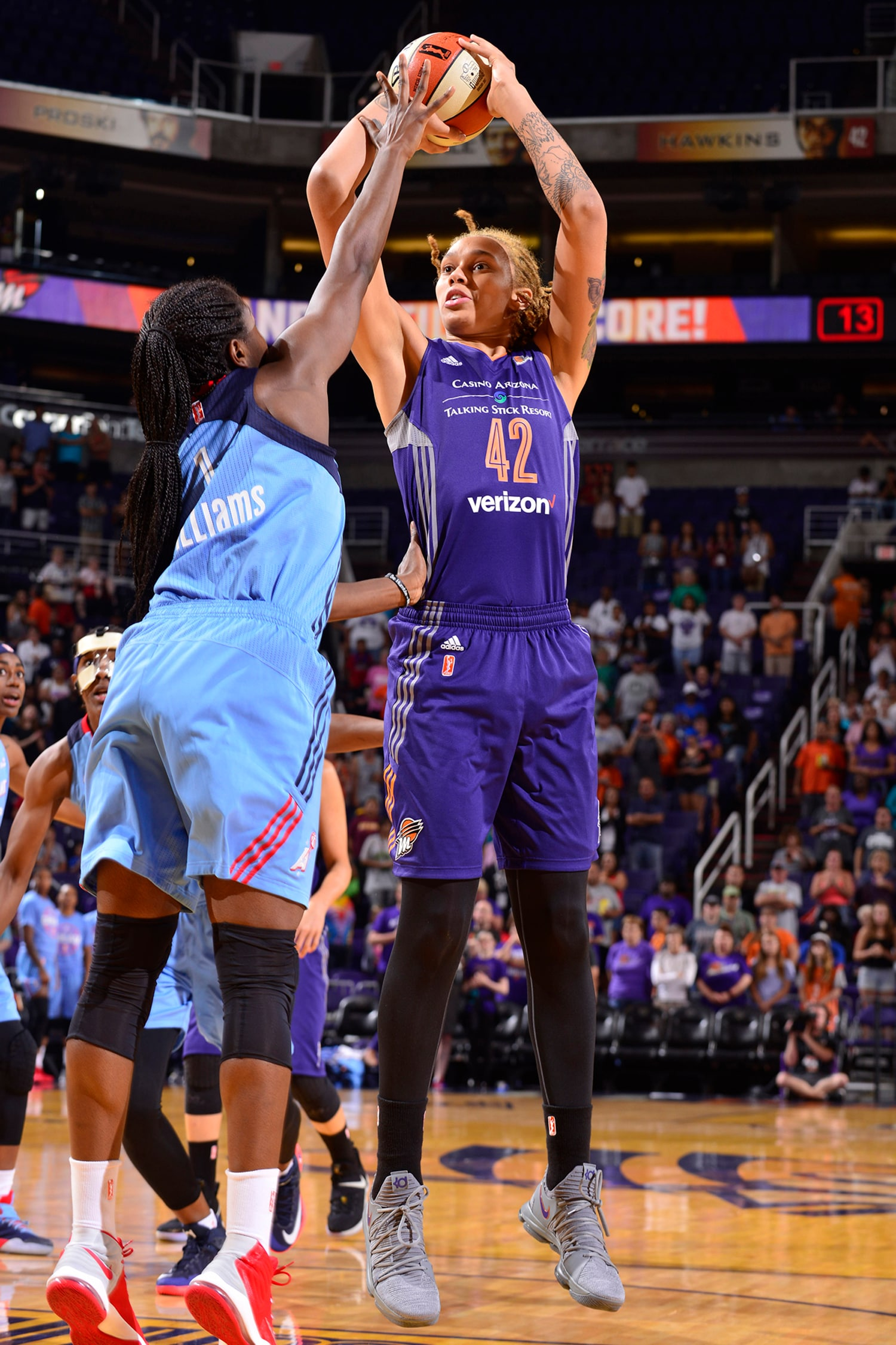 Phoenix Mercury vs Atlana Dream Brittney Griner