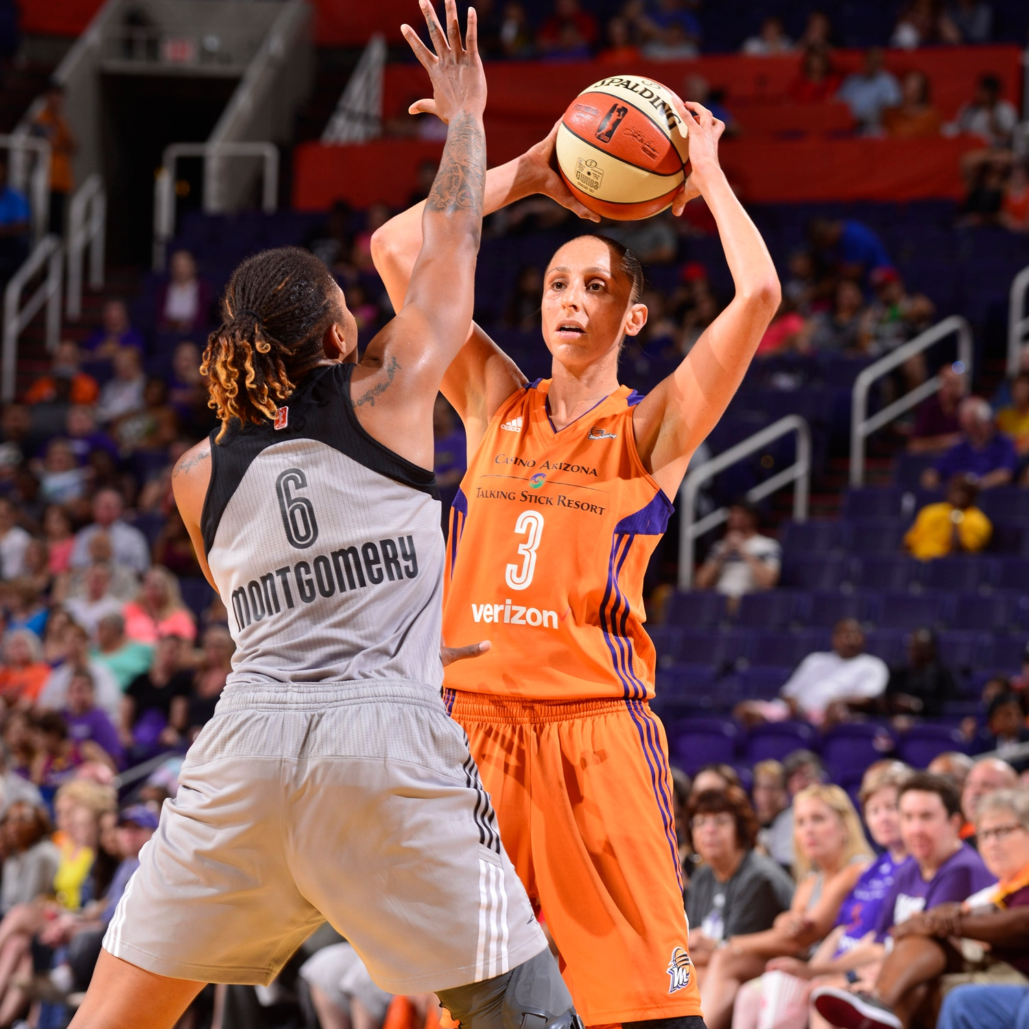 Diana Taurasi runs the offense as San Antonio Stars v Phoenix Mercury