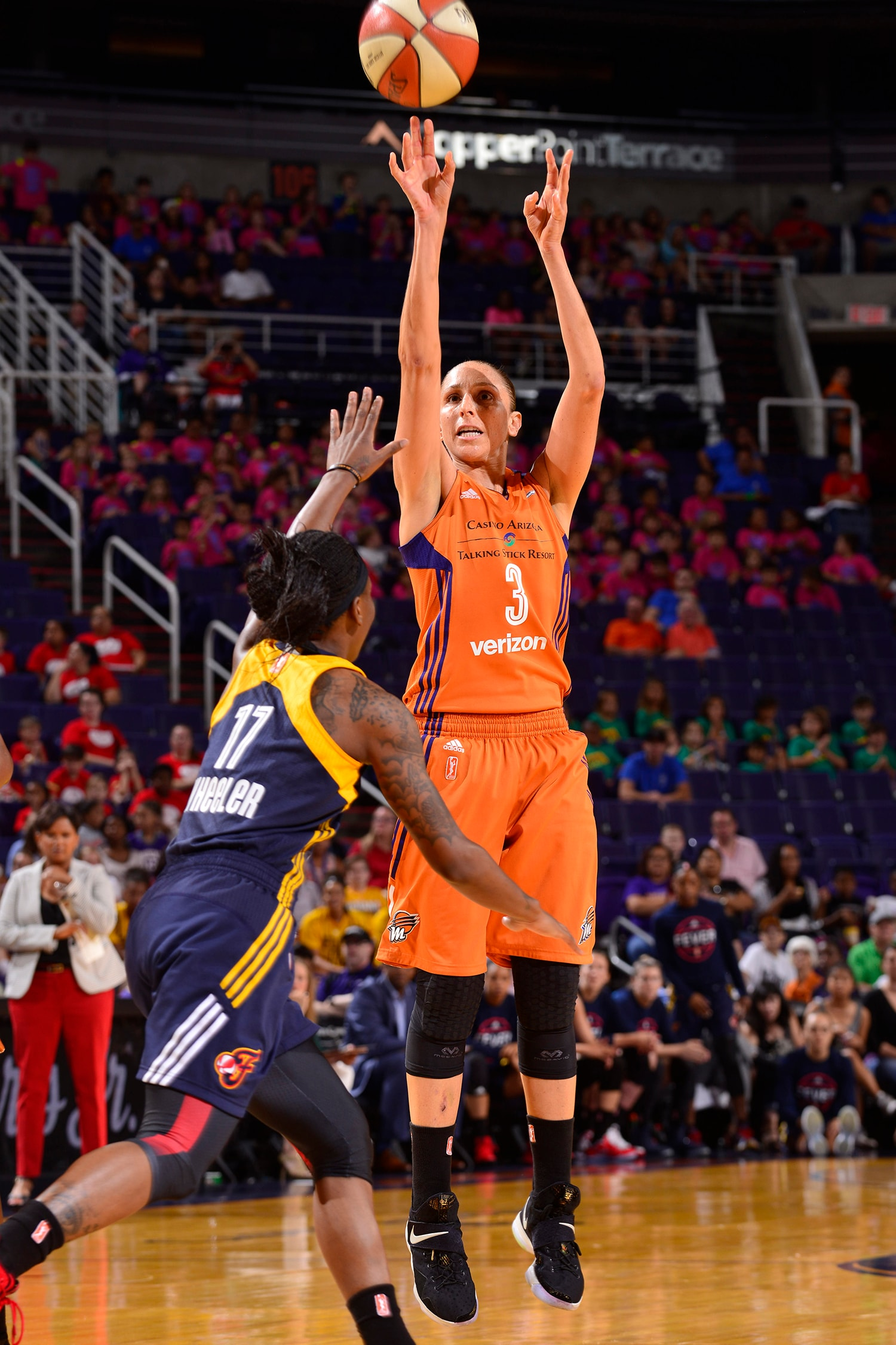 phoenix mercury indiana fever july 19, 2017 diana taurasi