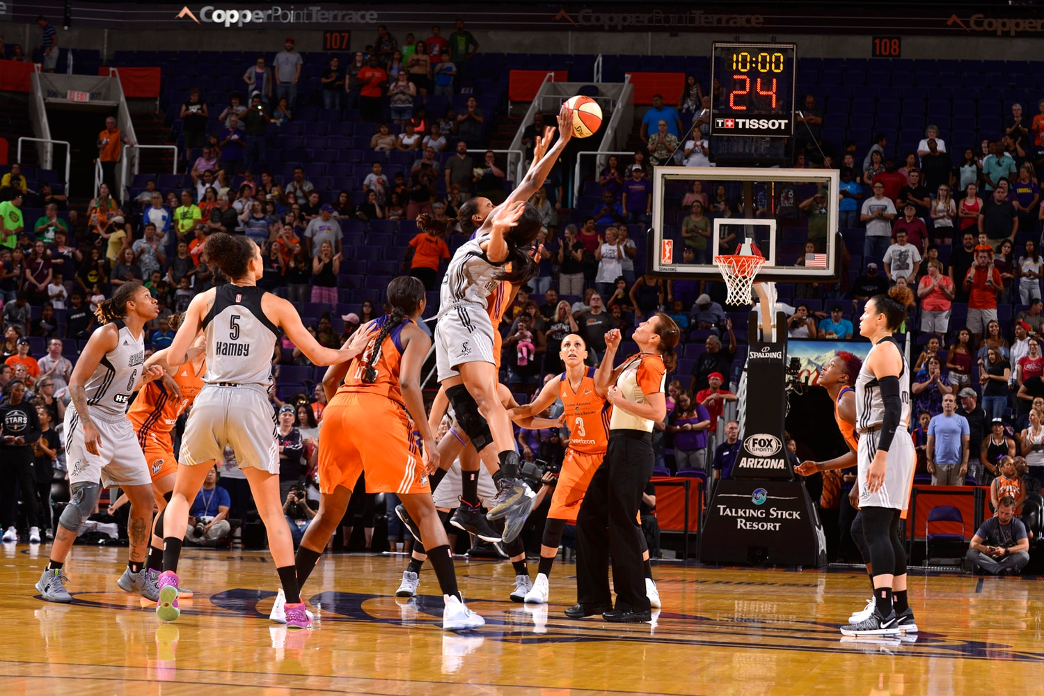 San Antonio Stars v Phoenix Mercury tips off
