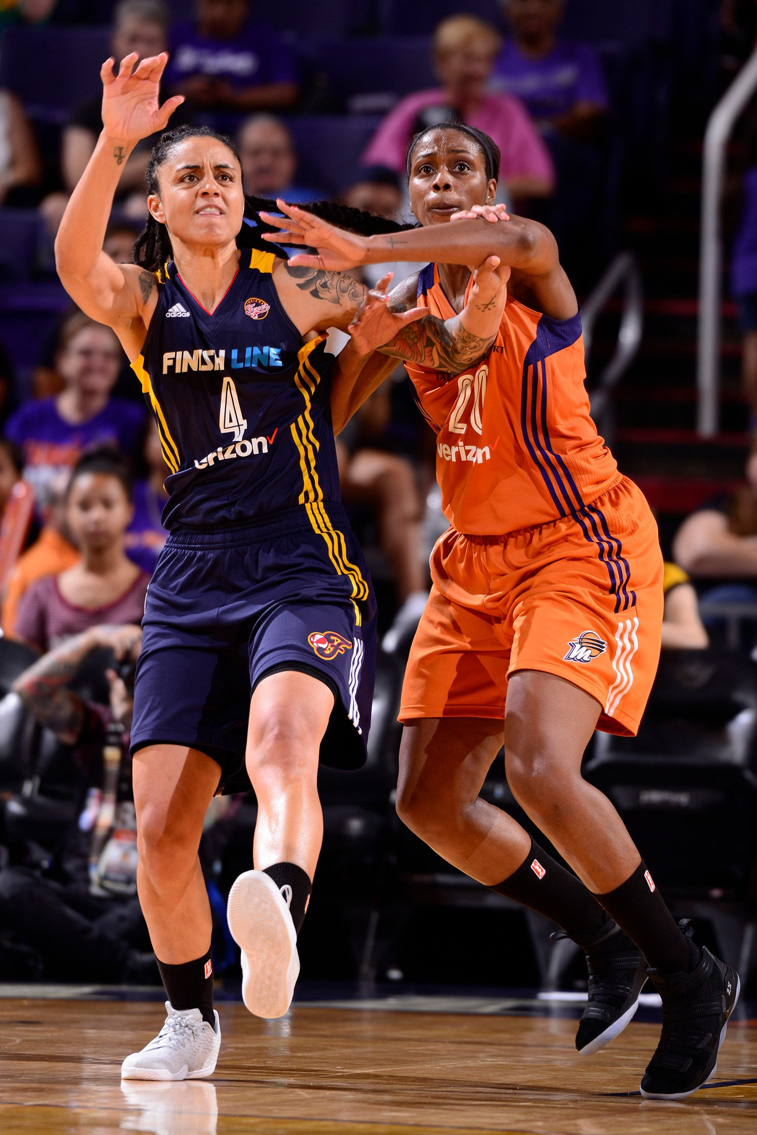 camille little plays defense against candice dupree