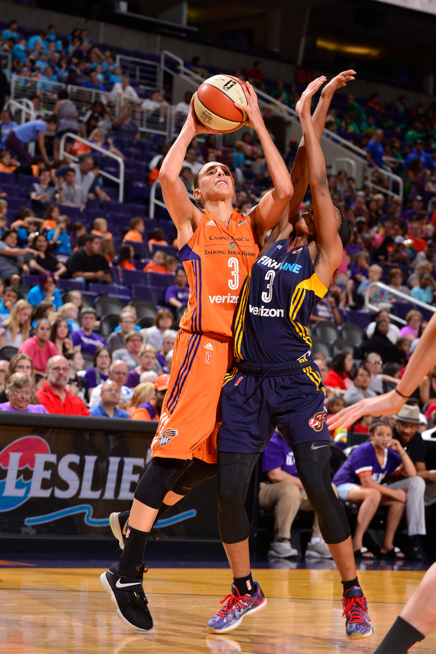 Diana Taurasi Phoenix Mercury shoots over indiana fever