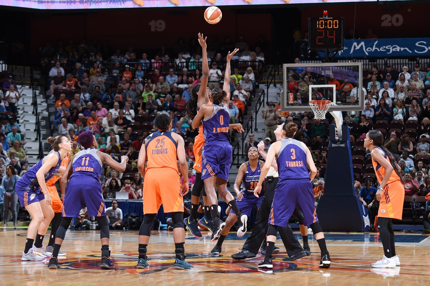 Phoenix Mercury v Connecticut Sun tips off