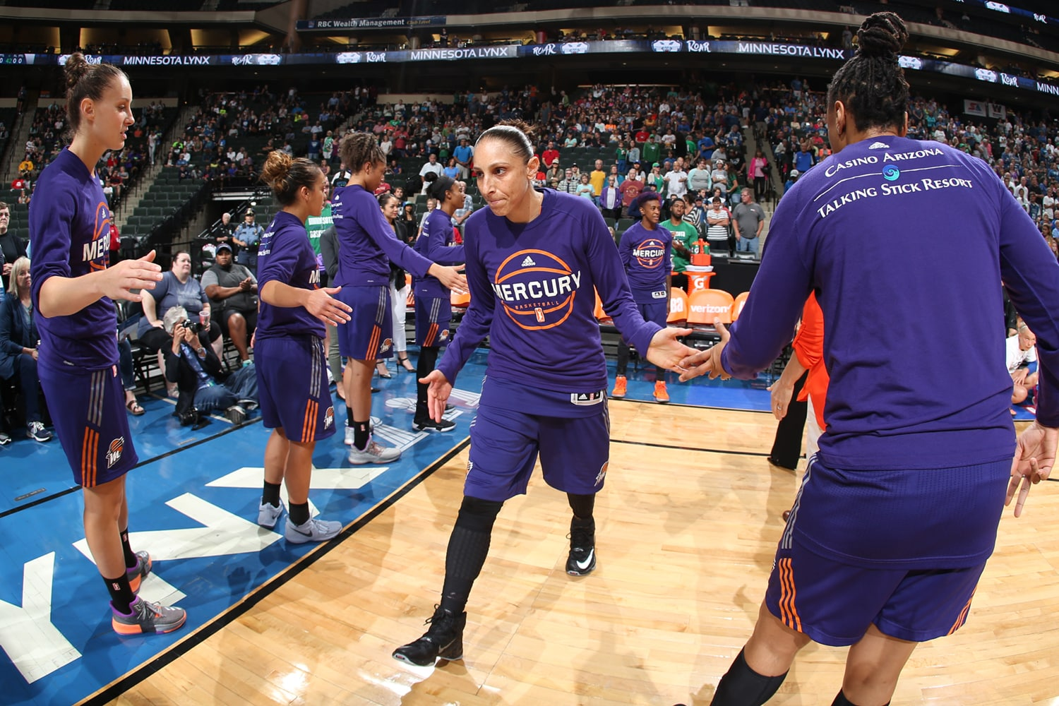 Diana Taurasi introduced for Phoenix Mercury v Minnesota Lynx