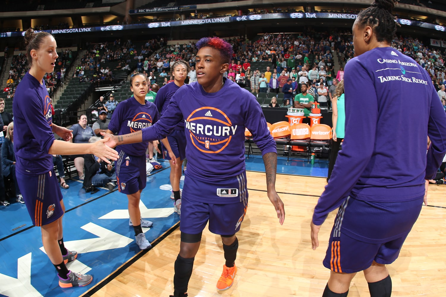 Danielle Robinson introduced for Phoenix Mercury v Minnesota Lynx