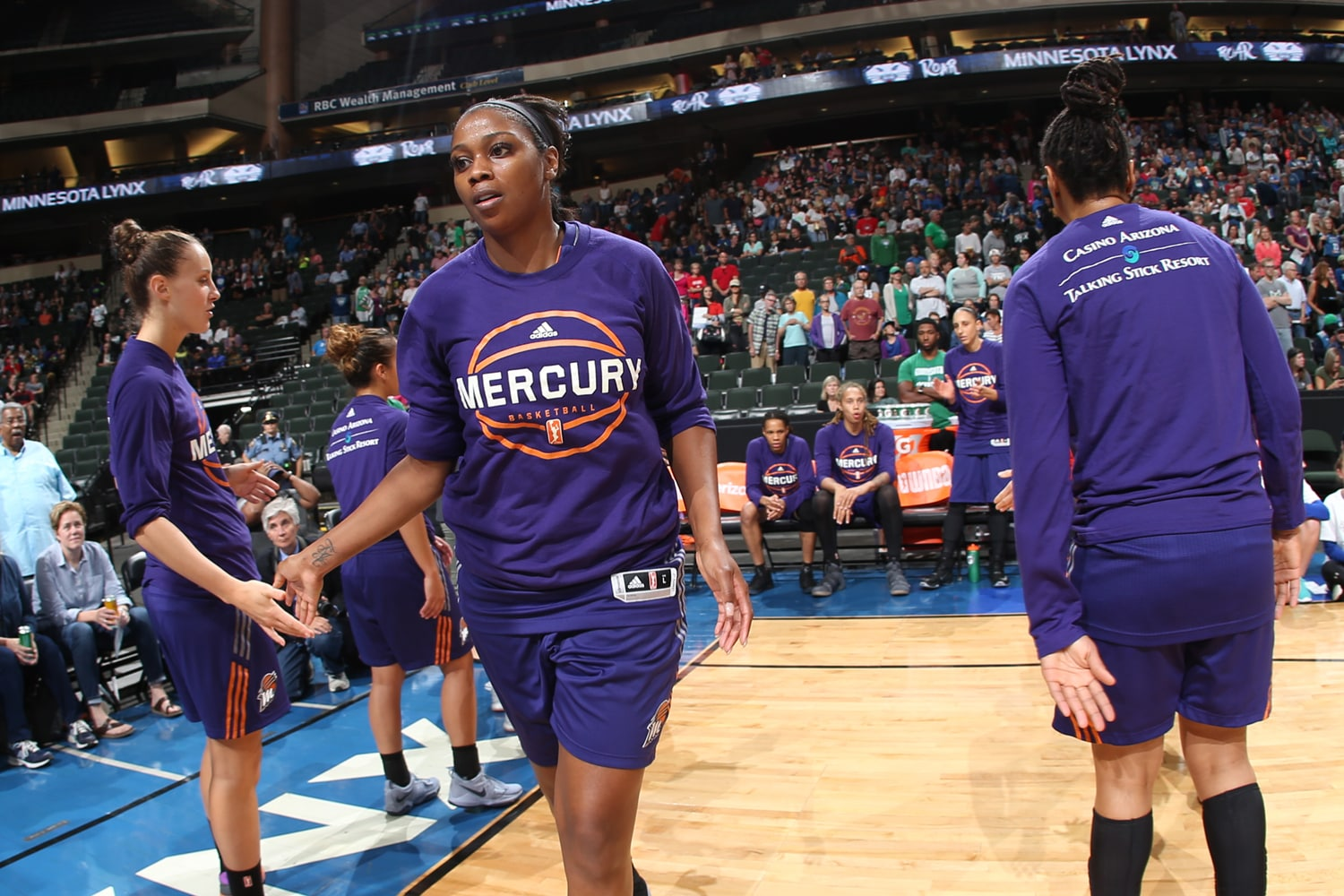 Camille Little introduced for Phoenix Mercury v Minnesota Lynx