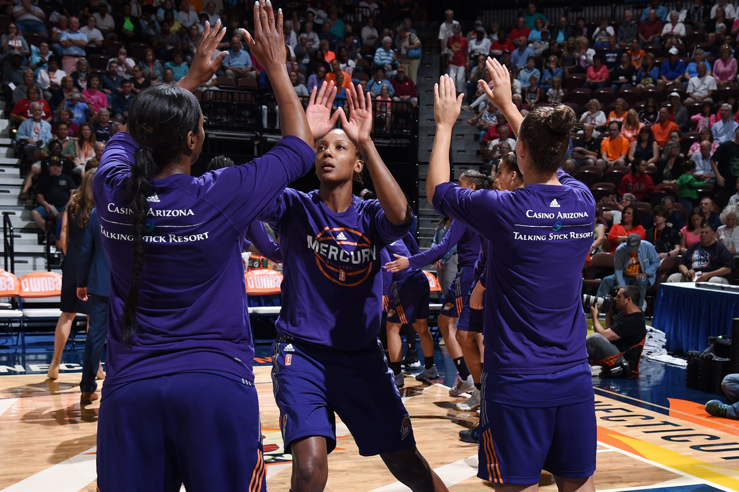 Angel Robinson introduced before Phoenix Mercury v Connecticut Sun