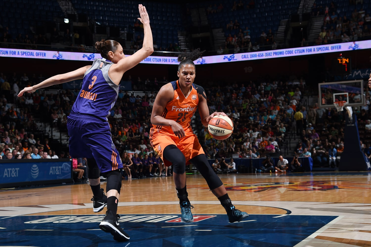 Diana Taurasi on the defensive end.