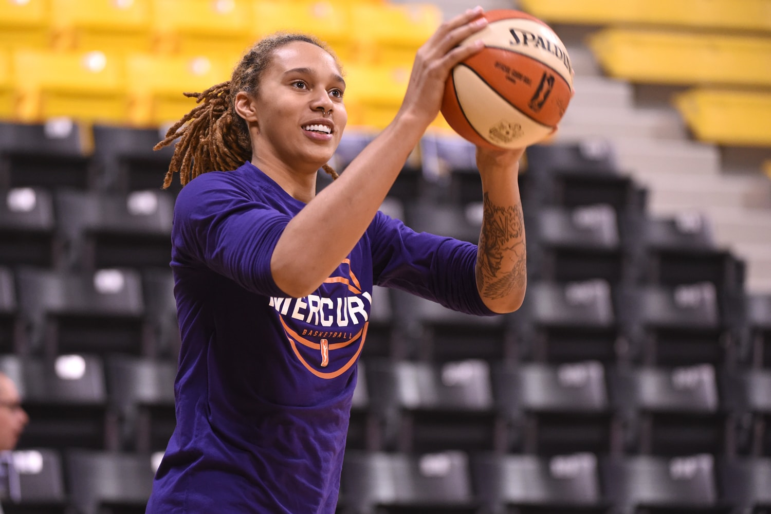 Phoenix Mercury v Los Angeles Sparks - Game Two: Brittney Griner during pregame shootaround