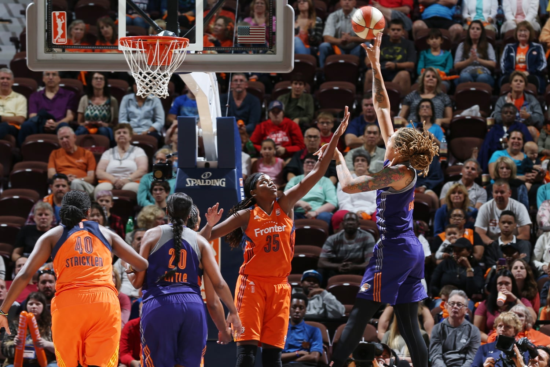 Phoenix Mercury v Connecticut Sun Postseason Win Brittney griner