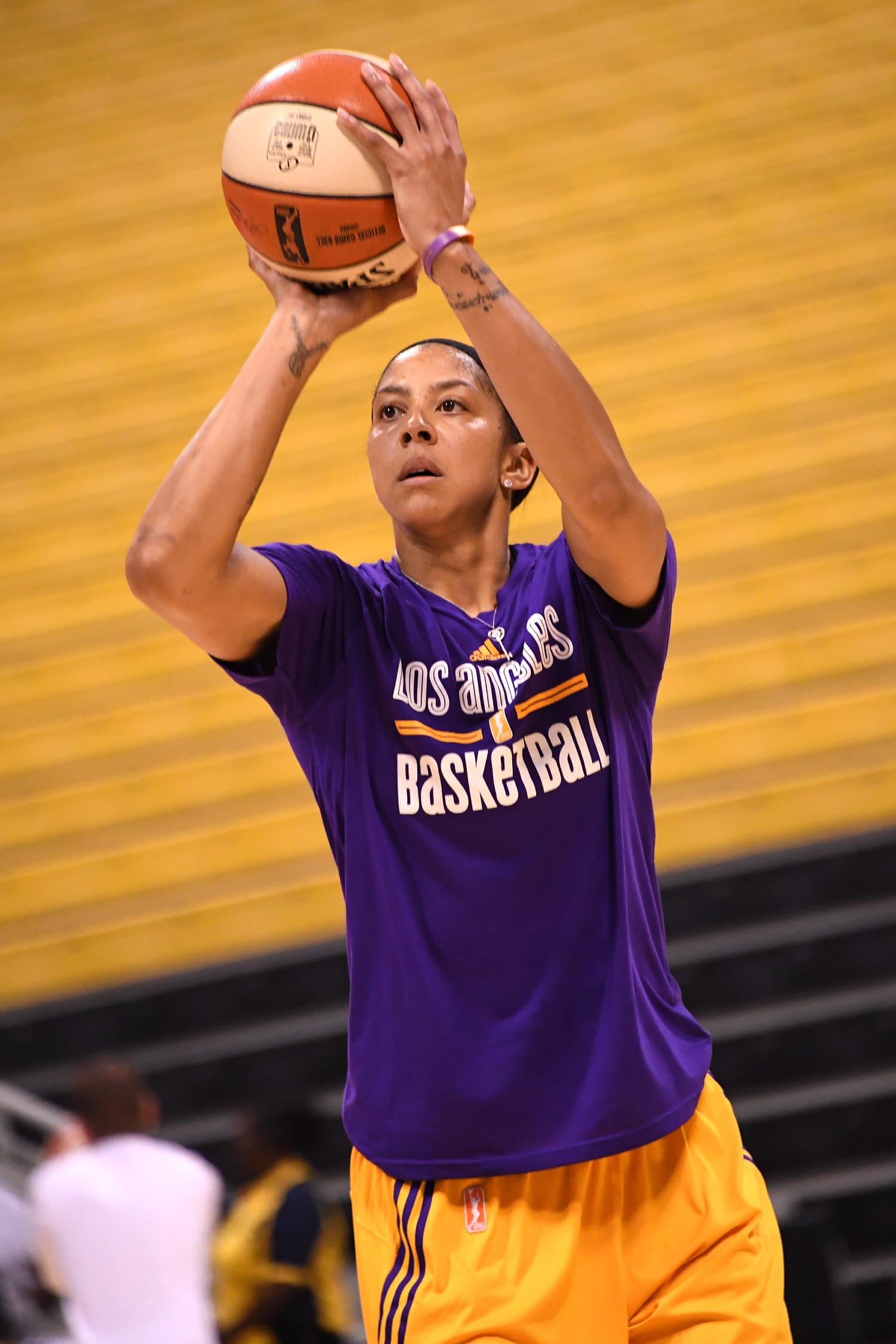 Phoenix Mercury v Los Angeles Sparks Game Two: Pre-game warmups for the LA Sparks