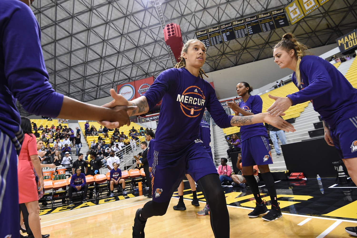 Phoenix Mercury v Los Angeles Sparks - Game Two: Introduction for Brittney Griner