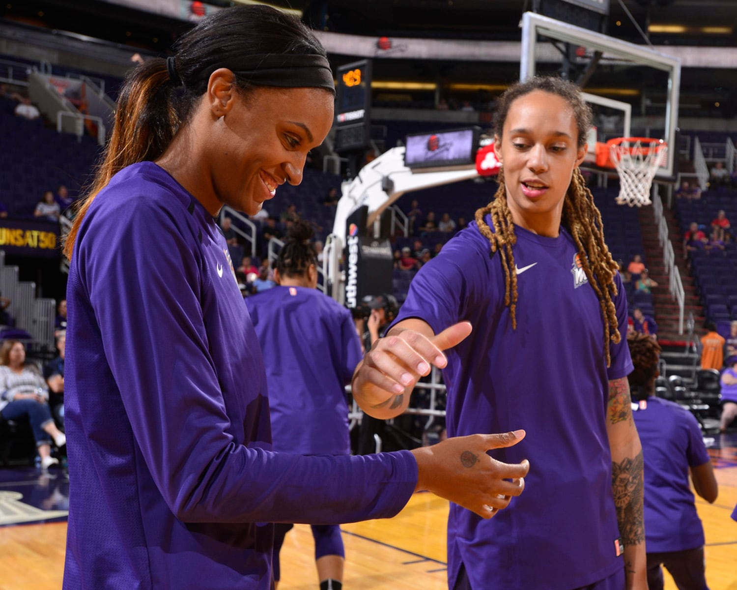 DeWanna Bonner and Brittney Griner
