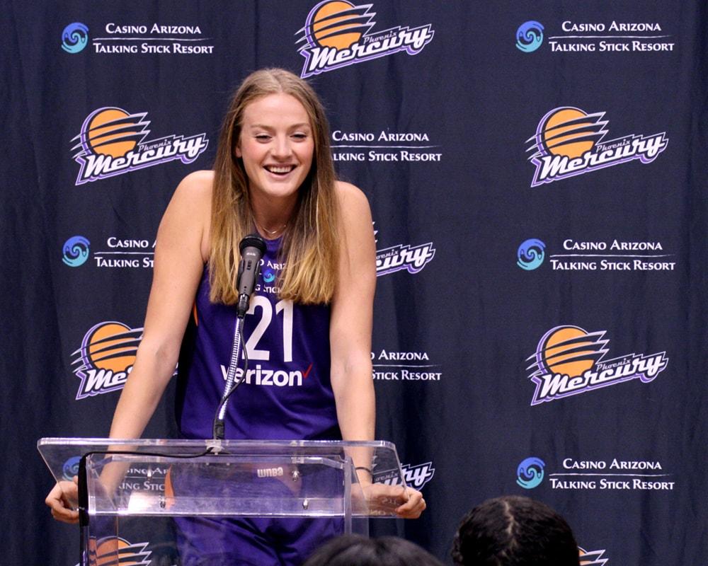 Mercury rookie Marie Gülich , all smiles