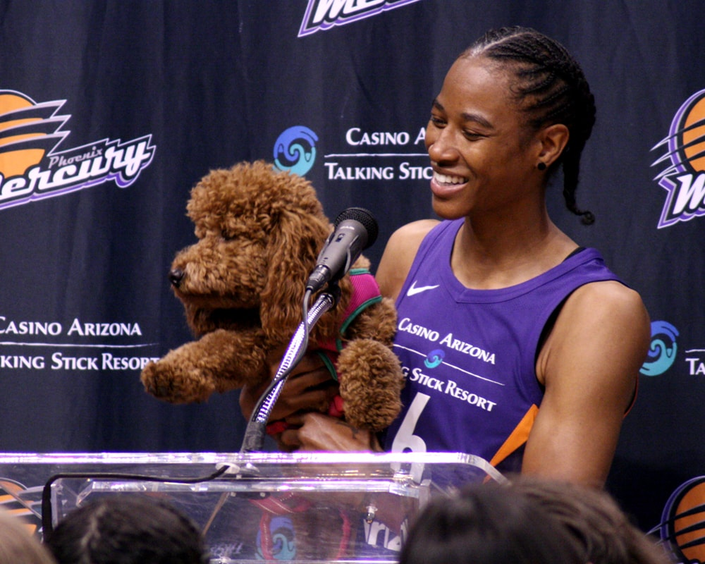 Yvonne Turner and her dog at media day