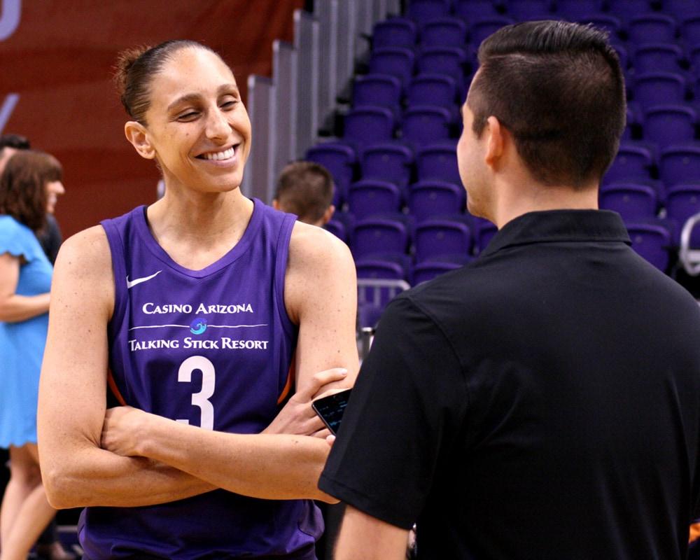 Diana Taurasi at Phoenix Mercury media day