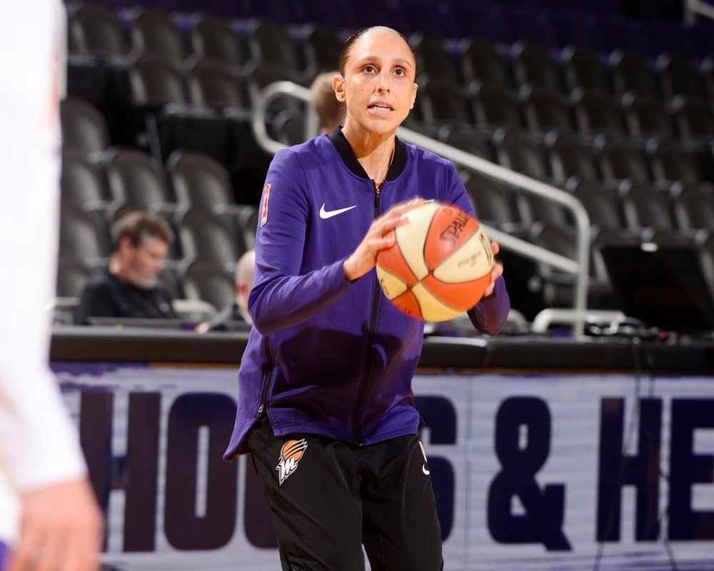 Diana Taurasi in the zone locked in