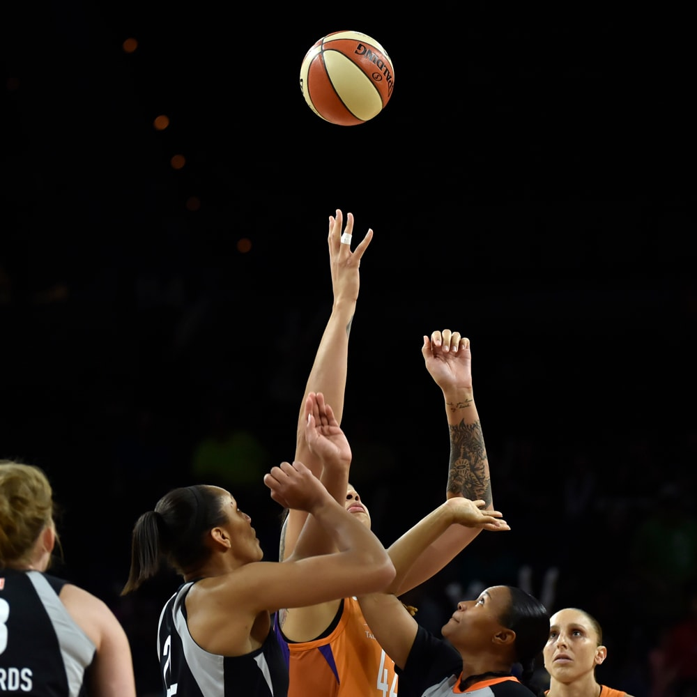 Brittney Griner jumpball