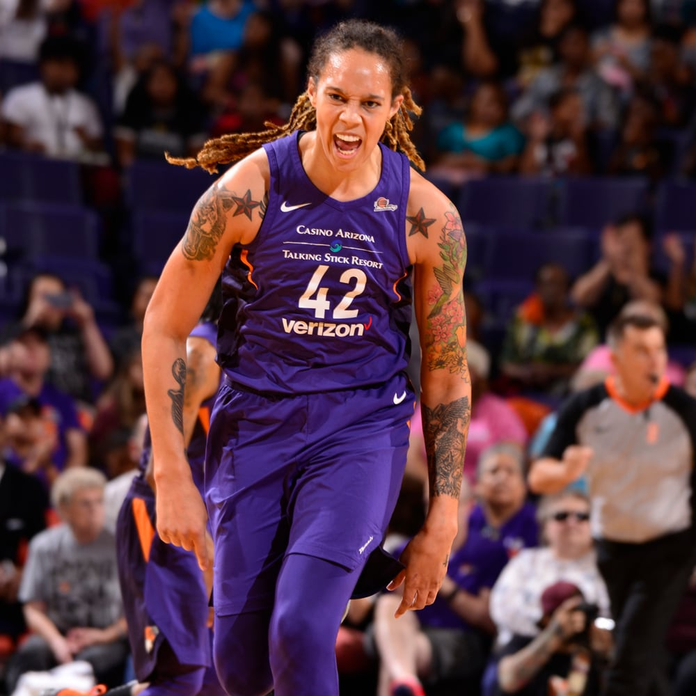 Brittney Griner shows emotion