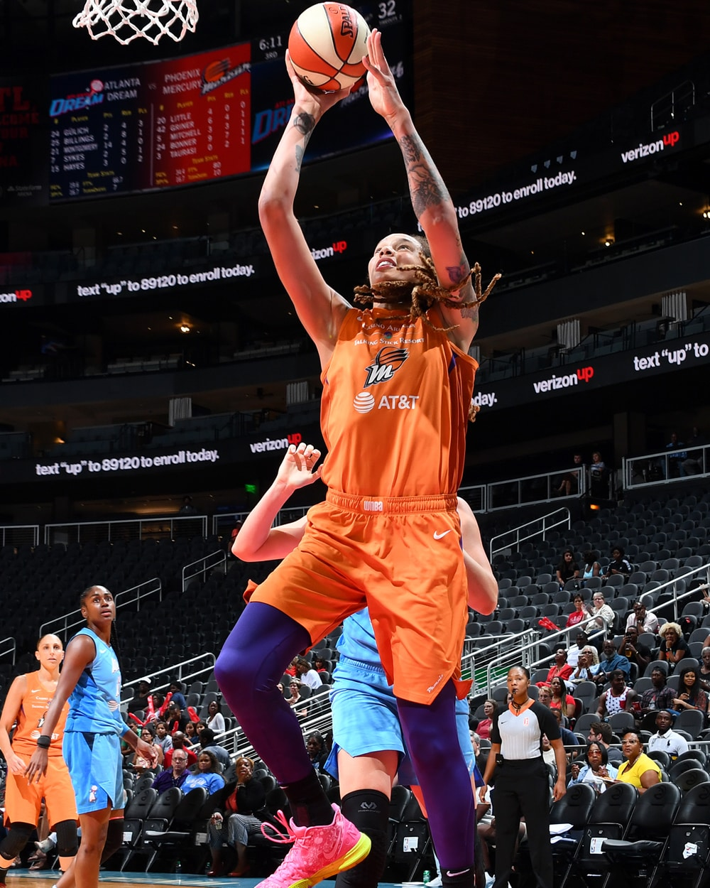 Brittney Griner with the layup