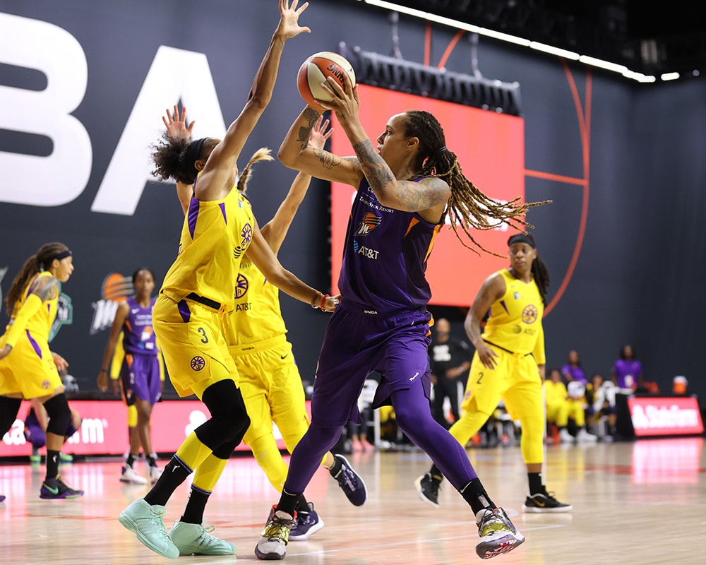Brittney Griner looks to shoot