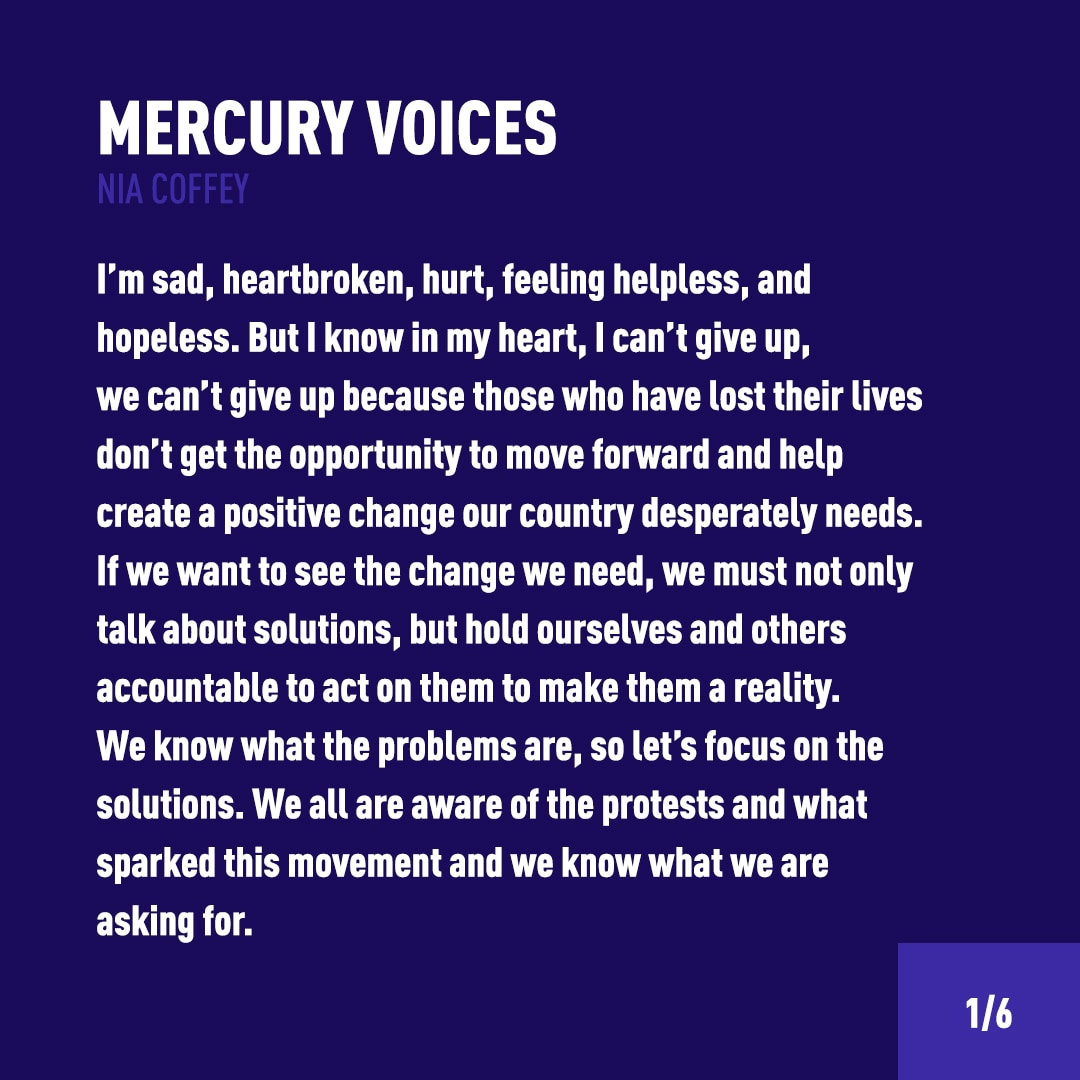 Mercury Voices Nia Coffey